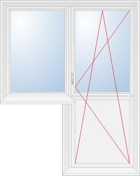 Глухая створка и балконная дверь