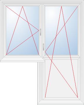 Поворотно-откидная створка и балконная дверь